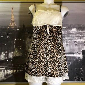 Victoria Secret Leopard Lace Babydoll